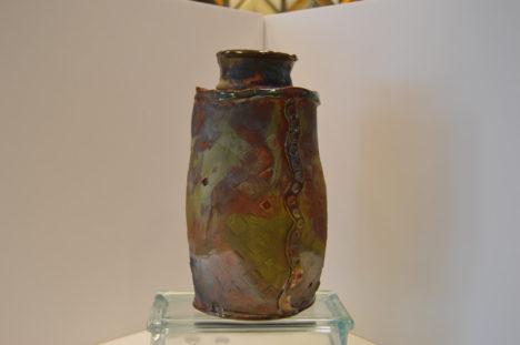 Copper Top Raku Vase