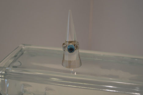 SS with Blue Topaz Ring