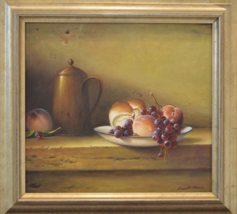 Still Life with Bread and Fruit