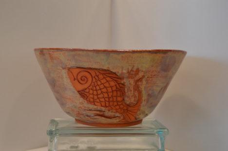 Terra Cotta Fish Bowl