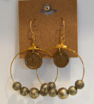 Crown Hoop Earrings with Beads