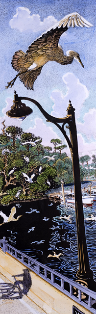 Evening Egrets C